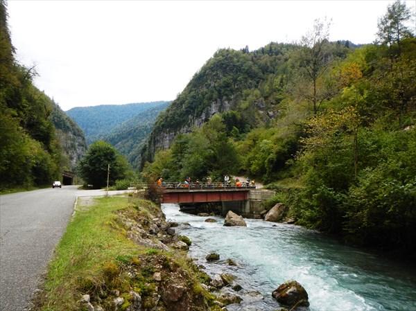 Поворот на Гегский водопад