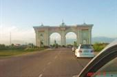 Въезд в Душанбе.