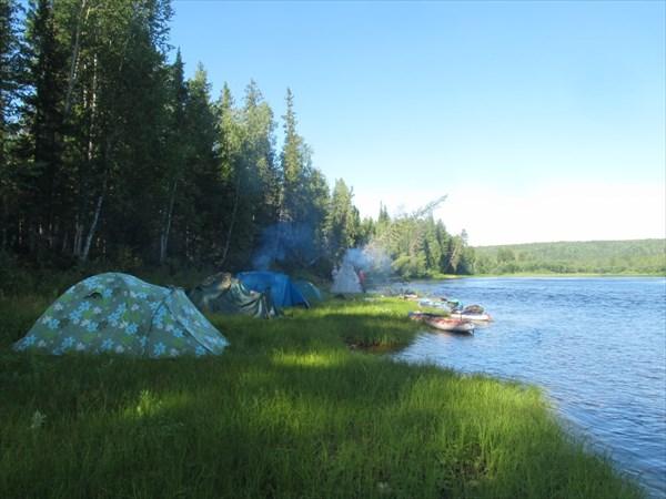 Наши палатки...