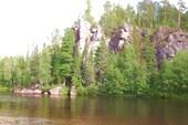 Река Лозьва в районе Ушмы