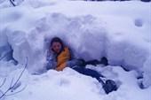 В снегах...