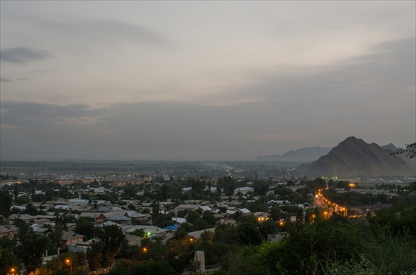 Ош с горы Сулейман-Тоо