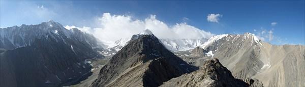 Панорма с вершины Дугобы