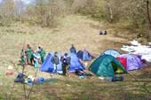 Лагерь спелеологов