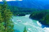 Река Ктунь. В районе посёлка Чемал. Горный Алтай.