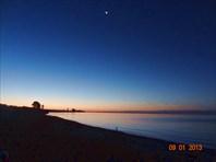Рассвет над Иссык-Кулем.