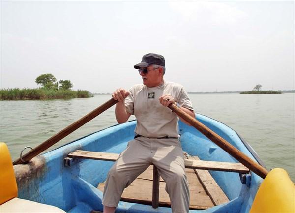 Прогулка на лодке по Равальскому водохранилищу