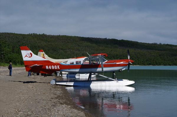 Летим обратно в Big Salmon, а потом - в Анкоридж