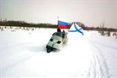 На болоте нас обогнали Новгородские паломники