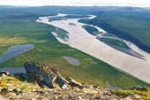 Вид на Яну возле Усть-Куйги
