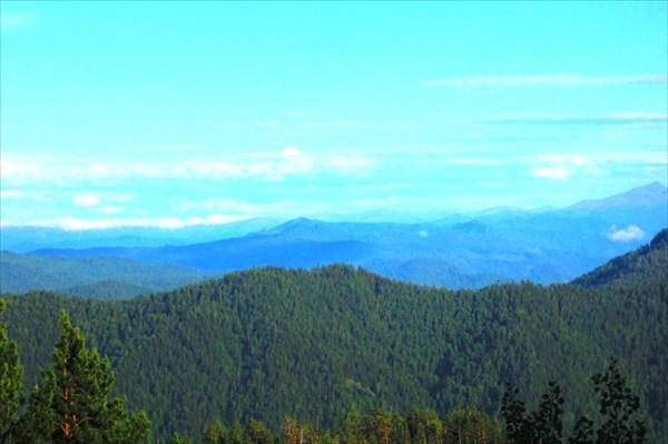 Вид с Абазинского перевала.