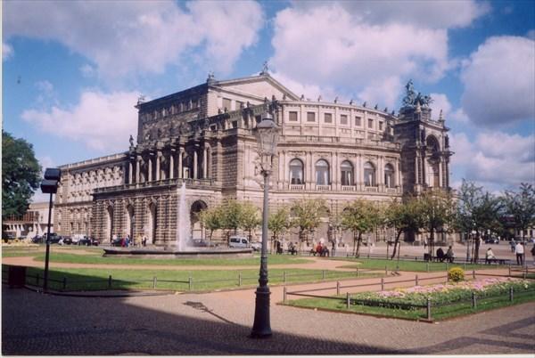 Опера Земпера, Театральная площадь, Дрезден