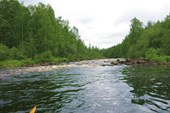 Первая шиверка на входе в реку