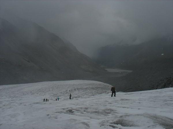 Подъем в нижней части ледника