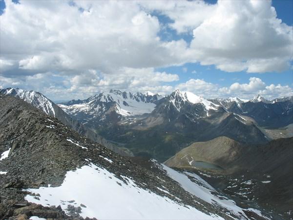 Вид с перевала Рублевский в сторону долины Караоюк