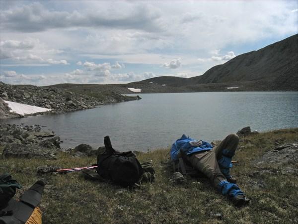 Озеро на последней морене у перевала Елангаш З.