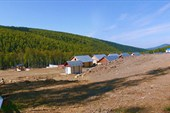 Нижняя база геологов на р. Кингаш