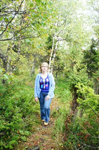 В парковом лесу.