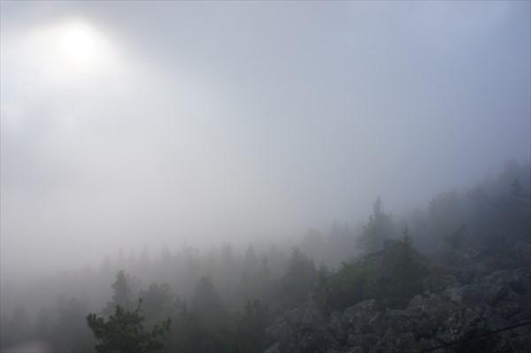 В облаке.