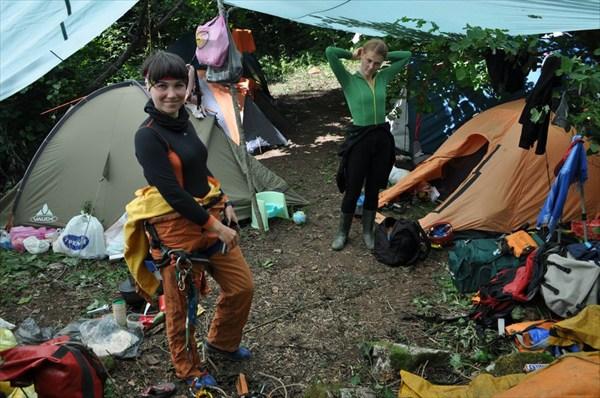 Лагерь возле пещеры Заблудших