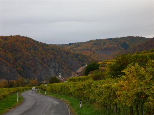 Дорога через виноградники после Дюрнштайна