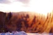 Восход Солнца горы