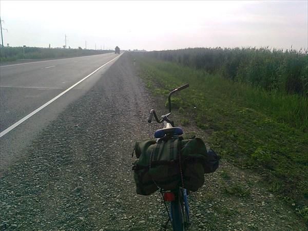 Двигаюсь  к  Тимашёвску.