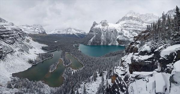 Скалистые горы, сентябрьский снег