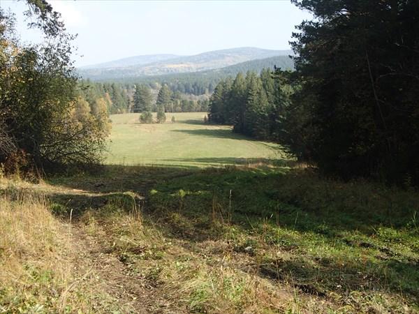 Поляна - начало тропы