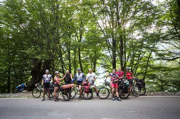 Встреча с казахастанскими велосипедистами
