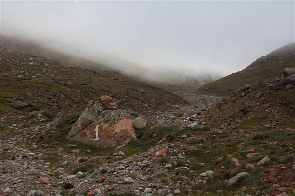 Первый виток перевала Кок-Айрык