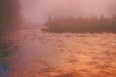 Туман в закатных красках