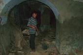Подвал, где прятались люди