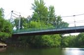 Пешеходный мост к дому Мичурина