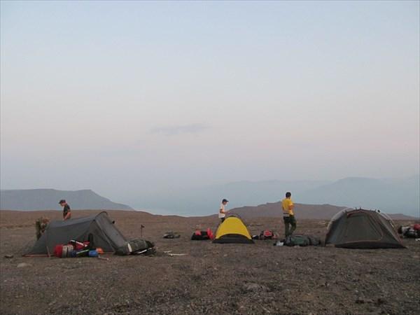 Лагерь на плато Путорана