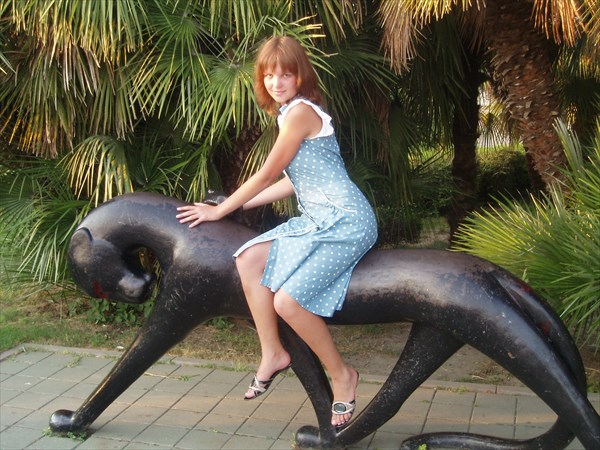 Скульптура пантера, Сочи