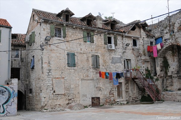 Жилой дом, непосредственно во дворце Диоклетиана