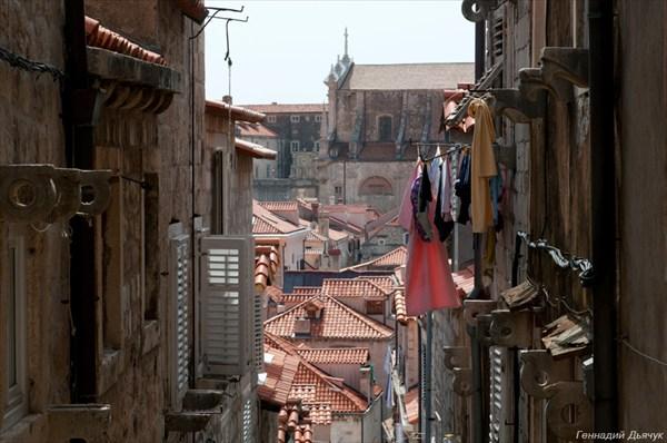 Сохнущее белье, как декорации Дубровника