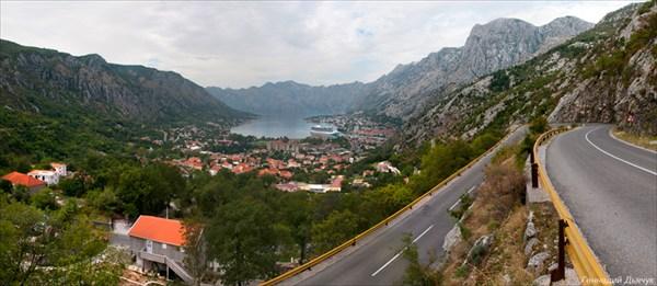 Вид на Котор с перевала