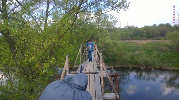 Переход по подвесному мосту