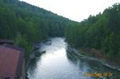Вид на реку Большая Сатка с плотины