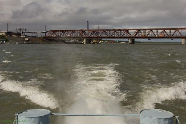 Заброска катером(порт Валёк)