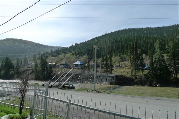 Мост напротив конторы Шорского национального парка