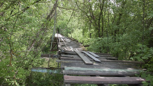 Старый мост через Казанку