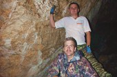 Спуск в пещеру Ледовую.