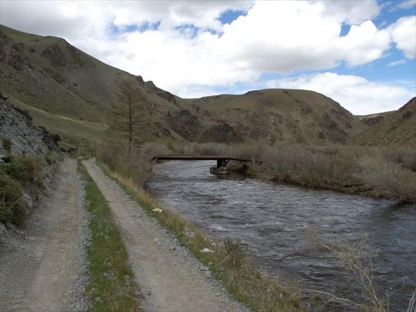 Река течет в ущелье