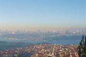Вид на Стамбул и Босфор с Азиатской части Стамбула