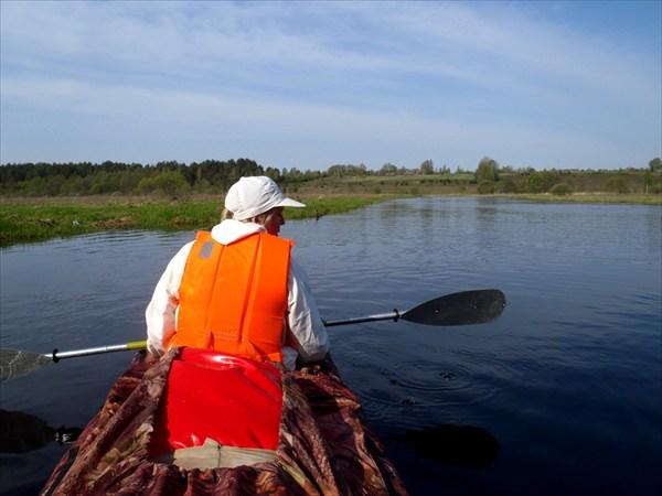 Сплав по реке Ипуть.
