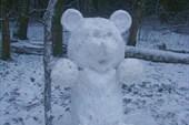 Первая снежная .. мишка :)