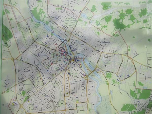 Карта г.Тарту